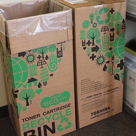 Caja de reciclaje de tóner