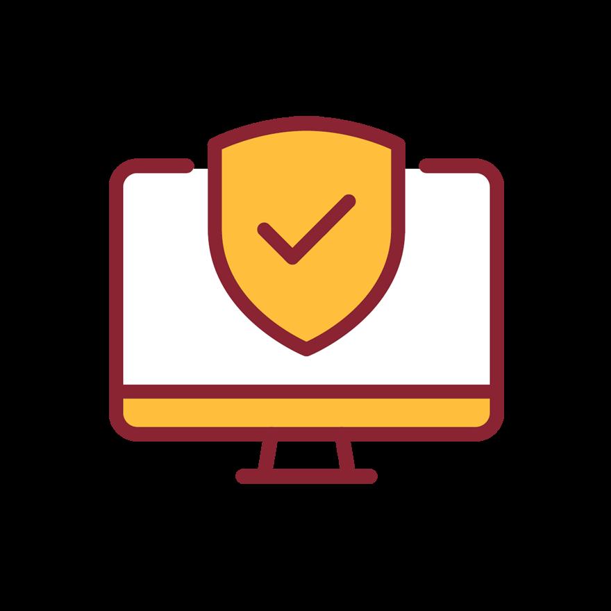 Ícono de seguridad en línea