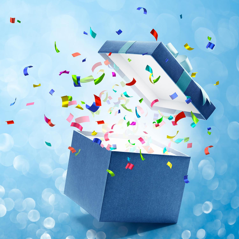 Caja de regalo con sorpresa